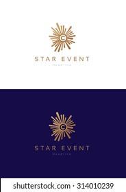 Star event logo teamplate.