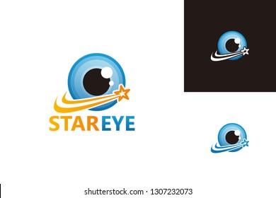 Star Eye Logo Template Design Vector, Emblem, Design Concept, Creative Symbol, Icon