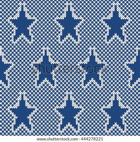 Star Fairisle Seamless Knitting Pattern Stock Vector Royalty Free