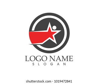 Star faster people logo design