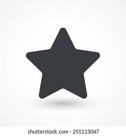 Star, favorite icon, vector illustration