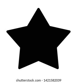 star favorite multimedia icon vector