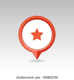 Star favorite pin map icon. Map pointer. Map markers. Vector illustration EPS10