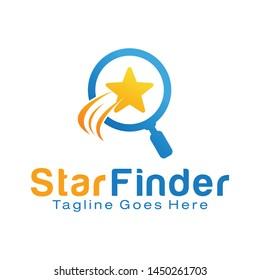 Star Finder logo design template