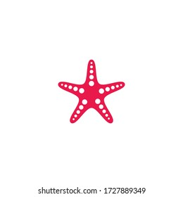 Star fish logo vector flat design