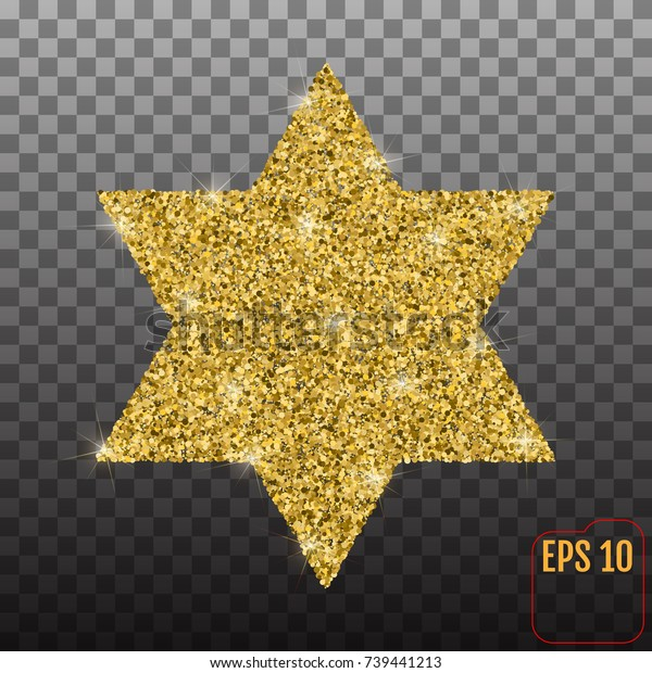 Star Form Gold Glitter Effect Traditional Stock Vector (Royalty Free
