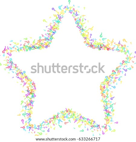 Star Frame On White Background Made Stock Vector (Royalty Free ...