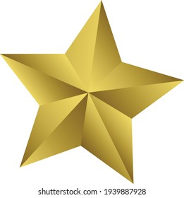 Star Golden 100% editable with separate layers