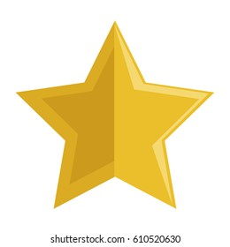 star golden isolated icon
