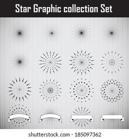 Star Graphic collection. Vector illustration