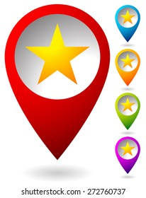 Star graphics - Star, favorite Icon, 5-pointed star. Vector
