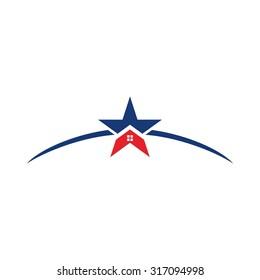 star home logo vector