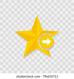 Star icon, arrow right icon sign vector symbol