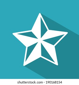 Star icon design  over blue background, vector illustration