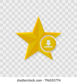 Star icon, download icon sign vector symbol
