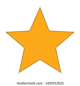 Star icon. flat illustration of Star vector icon for web