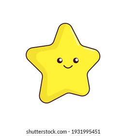 Star icon. Illustration isolated on white background.
