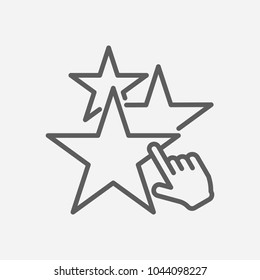 Star icon line symbol. Isolated vector illustration of  icon sign concept for your web site mobile app logo UI design.