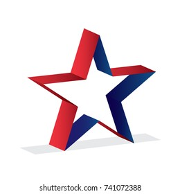 star icon logo template with 3d style vector illustration