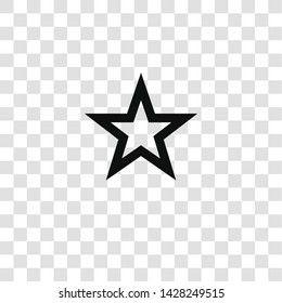 star icon from miscellaneous collection for mobile concept and web apps icon. Transparent outline, thin line star icon for website design and mobile, app development