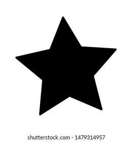 Star icon on white background. flat illustration of Star vector icon for web