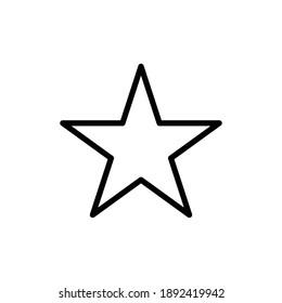 STAR ICON OUTLINE , AWARD ICON VECTOR