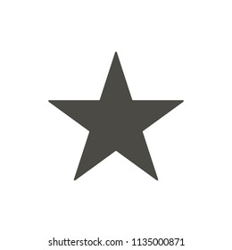 Star icon. Rank vector. Sparkle symbol. Trendy flat ui sign design. Rank graphic pictogram for web site, mobile application. Logo star illustration.