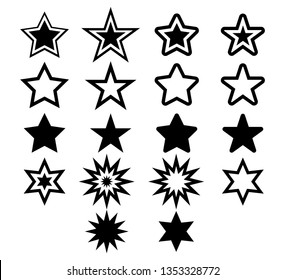 Star icon set ,vector design