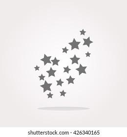 Star icon, Star icon set vector illustration
