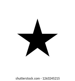Star icon. Star shape. Symbol of award, decoration, quality, rating etc. Vector illustration