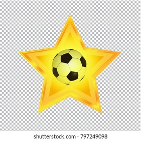 Star Icon Game On Transparent Background Stock Vector Royalty Free