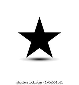 Star icon in trendy flat design