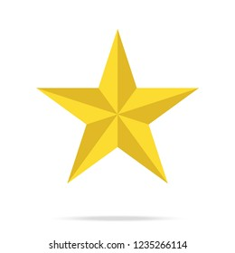 Star icon vector.