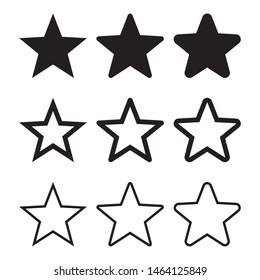 Star icon vector, black stars icons