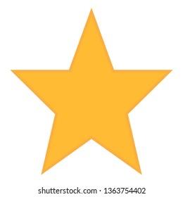 Star icon vector. Classic rank isolated. Trendy flat favorite design. Star web site pictogram, mobile app. Logo illustration. Eps10