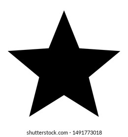 star icon vector flat style