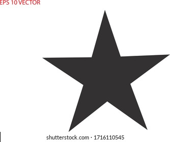 Star icon. Vector Illustration. EPS 10