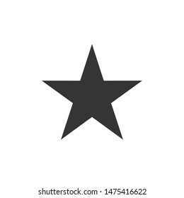 star icon vector sign isolated on white background. star symbol template color editable