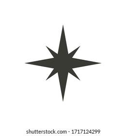 Star icon vector simple design