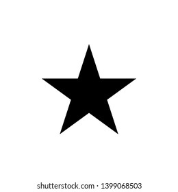 Star Icon vector. Simple flat symbol on white background