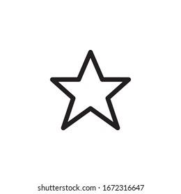 star icon vector symbol template
