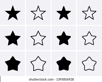 Star Icons set. Vector for design