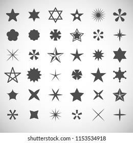 Star icons set. Vector illustration