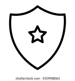 Star inside shield, police badge icon