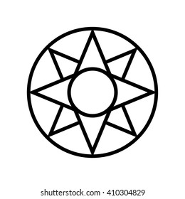 Star of Ishtar symbol . Vector illustration