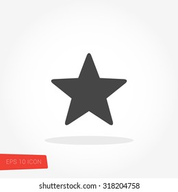 Star Isolated Flat Web Mobile Icon / Vector / Sign / Symbol / Button / Element / Silhouette
