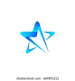 Star Letter M Initial Logo template