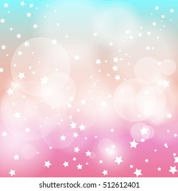 star light with pink and blue background.