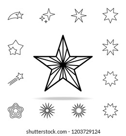 star line icon. Web icons universal set for web and mobile