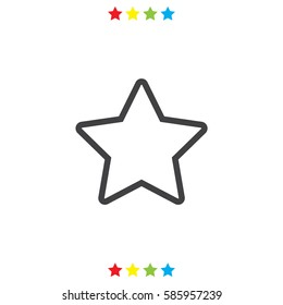 Star line vector icon. Add to favorites symbol. Bookmark sign